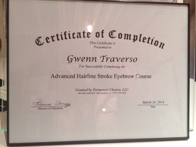 GT-Certificate-Advanced Hairline Stroke Eyebrow Course