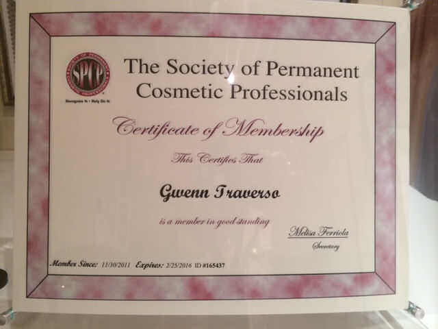 GT-Certificate-Society of Permanent Cosmetic Professionals Membership