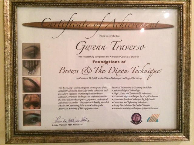 GT-Certificate-brows and the dixon technique