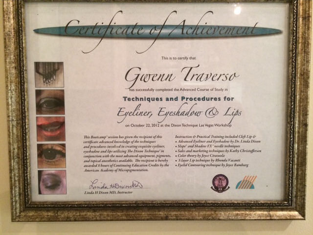 GT-Certificate-eyeliner eyeshadow and lips
