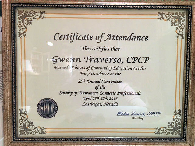 Certificate of attendance to the CPCP 2016 Annual Convention