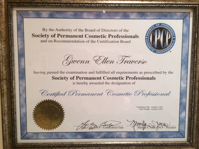 GT-Certificate-spcp certified permanent cosmetic professional